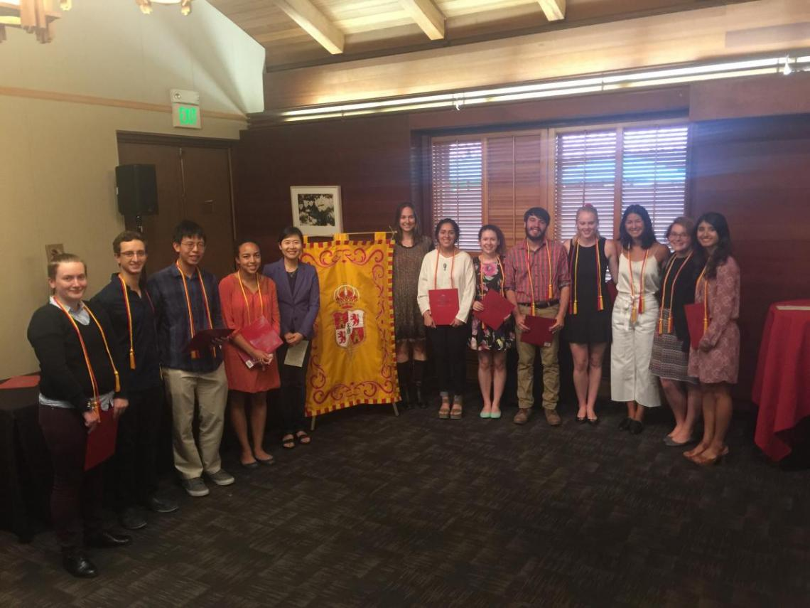 2017 Spanish Honor Society induction at Stanford University